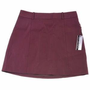 NEW Express high waist Skirt 6 Maroon A-line